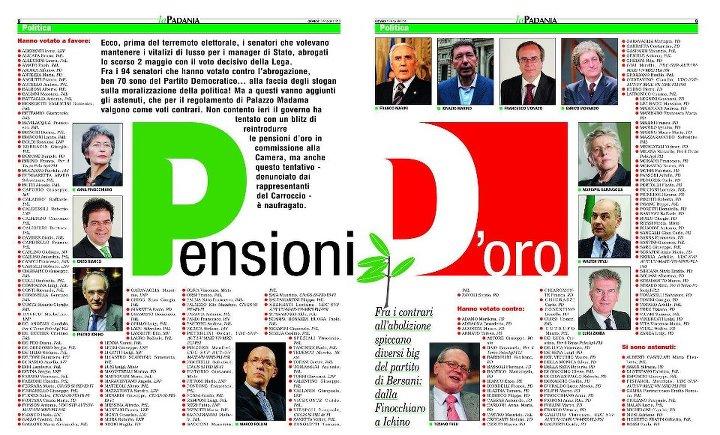 pensioni.d.oro  In assenza di un'uscita dall'euro il taglio delle pensioni