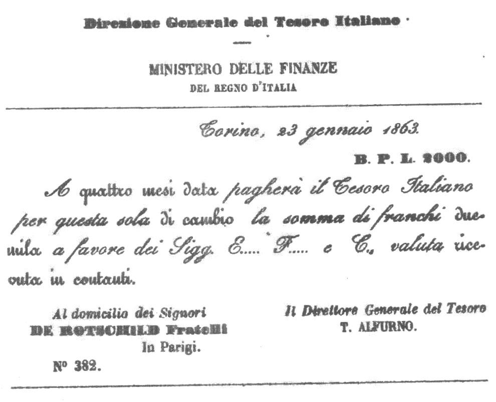 Il debito nasce con l'unita' d'italia